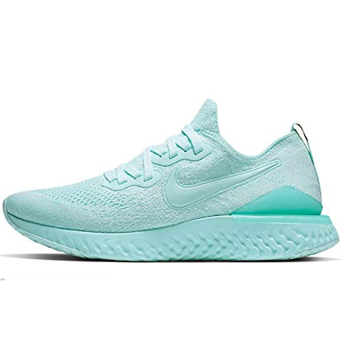 Nike Womens Epic React Flyknit 2 Running Shoes (8.5, Teal Tint)