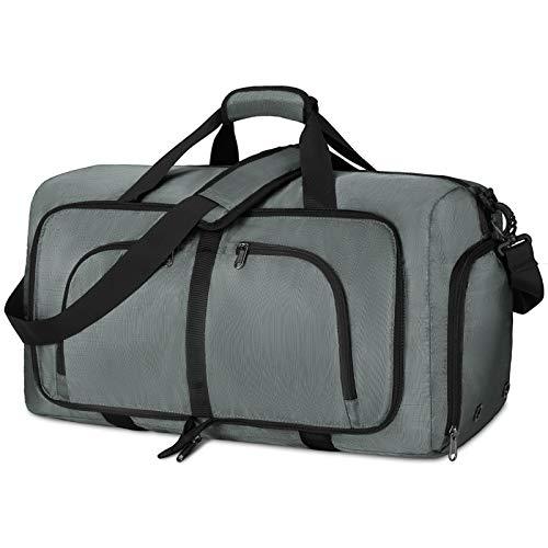 NEWHEY Bolsa de Viaje Plegable 40L 65L 80L Grande Bolsa de Deporte Impermeable Ligera Bolsa de Fin...