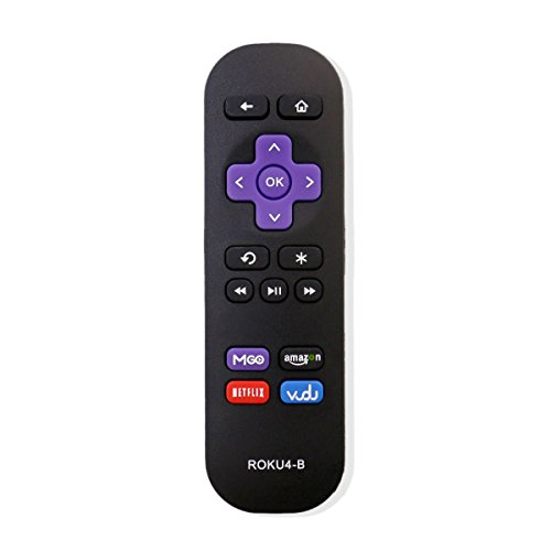 New USARMT Replaced Roku 4-B Replacement Remote for Roku 1, Roku 2, Roku 3, Roku 4 (HD, LT, XS, XD, XDS) Streaming Player with M-GO/ Amazon/ Netflix/ Vudu app keys. Not work with Roku stick/TV!