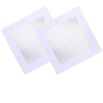 2 Pieces Wall Repair Patch Aluminum Self-Adhesive Drywall Hole Patches (6 x 6 inches)