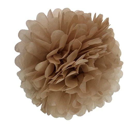 10 pompones de papel de seda de 25 cm para decoración de
