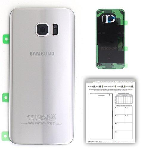 Vetro posteriore Argento per Samsung Galaxy S7 Edge Originale per modello SM-G935F