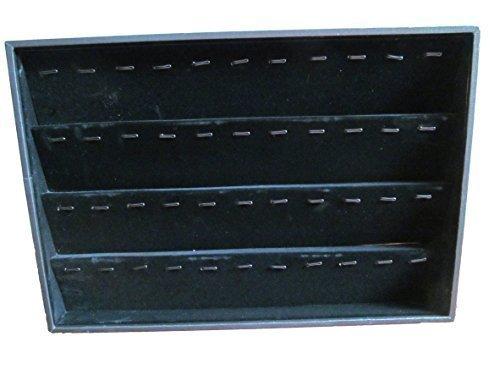 Hochwertiges schwarzes Samtfinish Schmuckkasten Kiste mit verschiedenen Stufen für Ringe, Ohrringe, Ketten für Geschäfte, # Glühweintasse, mit luxuriösem Schaumstoffeinsatz von Fett-Catz