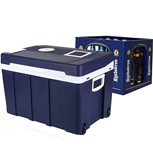Gino Gelati GG-55W-50L Cooling Box, 50 liter, 2-in-1 mini-koelkast, koelbox voor bierkratten, warmhoudbox, campingkoelkast, 12 en 220 volt
