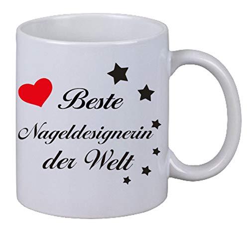Netspares 118863346 Kaffee Tasse Becher Beste Nageldesignerin der Welt Geschenk Weihnachten, Weiß