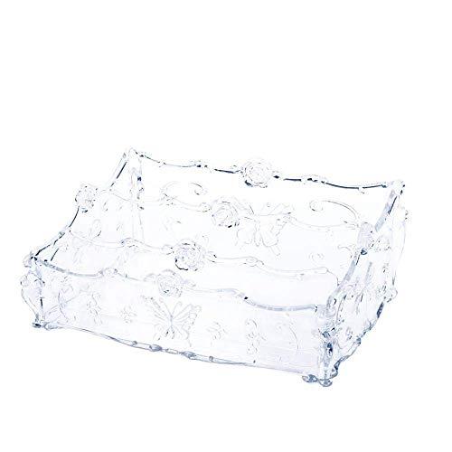 Cosmetische opbergdoos rek, desktop afwerking box, multifunctionele opbergdoos for make huidverzorgingsproducten rek kaptafel, transparant, ongeveer 25,5 * 17 * 10 cm LOLDF1