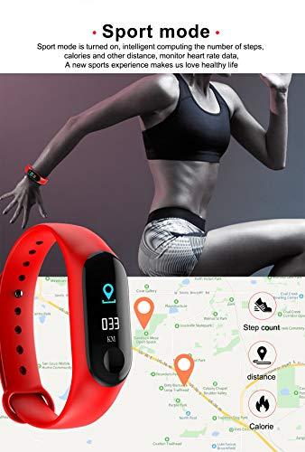 TIAS Pulsera inteligente M3, monitor de actividad física, monitor de presión arterial, frecuencia cardíaca, contador de… 7