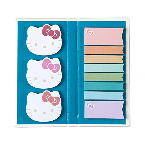 Hello Kitty X Erin Condren Designer Accessories - Sticky Note Booklet - 11 Adhesive Notepads with 50 Sheets Each, 550 Repositionable Sticky Notes Total