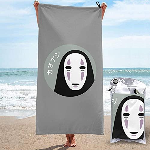 SHIJIAN Sin cara Kaonashi Spirited ay toallas de playa toallas de mano Sábanas de baño er manta absorbente viaje grande piscina trajes de baño cubre toallas populares 31.5 pulgadas x 63 pulgadas