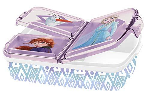 Fiambrera infantil con diseño de 2 Anna y Elsa, caja de sándwich, lata de Bento, PJ Masks, Spiderman, Los Vengadores, Mickey, Paw Patrol, sin BPA, guardería, cumpleaños (reina de hielo 2) (2021)