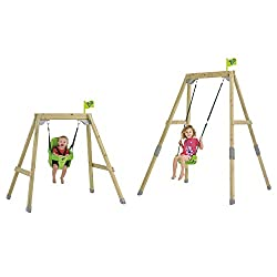 This ' growable' single wood swing has been a TP best seller for years. All you need to 'grow' your Acorn frame from low to full height is included in the box This Acorn set is sold complete with 2 seats, including a foldaway swing seat for children ...
