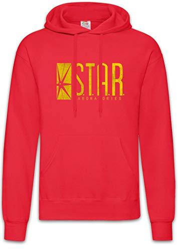 Urban Backwoods S.T.A.R. Laboratories Logo Hoodie Kapuzenpullover Sweatshirt Rot Größe L