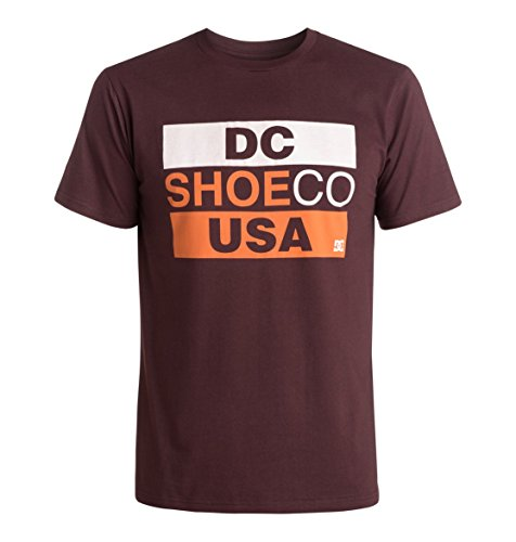 DC Shoes Basic Third - T-shirt - Imprimé - Col ras du cou - Manches courtes - Homme - Rouge (Port Royale) - Small (Taille fabricant: S)