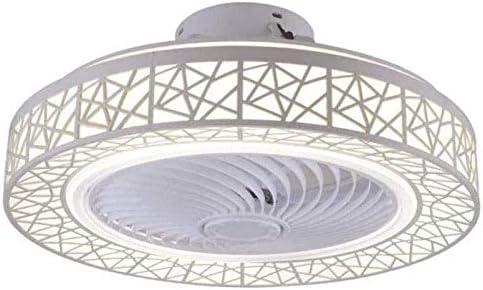 RUIXINBC Ventilador De Techo con Iluminación Y Control Remoto, Lámpara De Techo LED Moderna Ventilador Invisible Creativo 40W Lámpara De Techo De Sala De Estar Regulable,Blanco