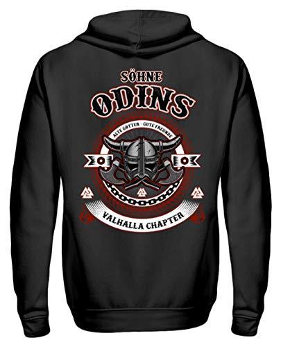 Walhalla Valhalla Odin Söhne Odins Alte Götter Thor – Camiseta de mitología nórdica, unisex, con capucha Jet Schwarz L