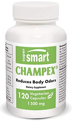 Supersmart - Champex 1500 mg Per Serving - Detox & Bad Breath - Agaricus Bisporus Extract, Powerful Detoxifier & Internal Deodorizer   Non-GMO & Gluten Free - 120 Vegetarian Capsules