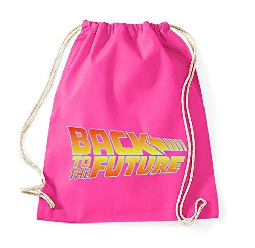 Youth Designz Baumwolltasche Turnbeutel Tasche Modell Zurück in Die Zukunft - Pink