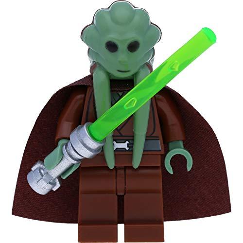 LEGO Star Wars Minifigur: Kit Fisto (nautolanischer Jedi-Meister) mit Umhang und Waffen