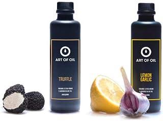 ART OF OIL Gourmet Geschenkset   Bio Olivenöl mit Zitrone Knoblauch & Trüffel Olivenöl je 200ml   Geschenk für Hobbyköche & Dankeschön Geschenke