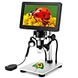 LCD Digital Microscope with Polarizer HD Output 1080P Digital 1200x Magnification for SMD Soldering Work Jewelers Coins Collection