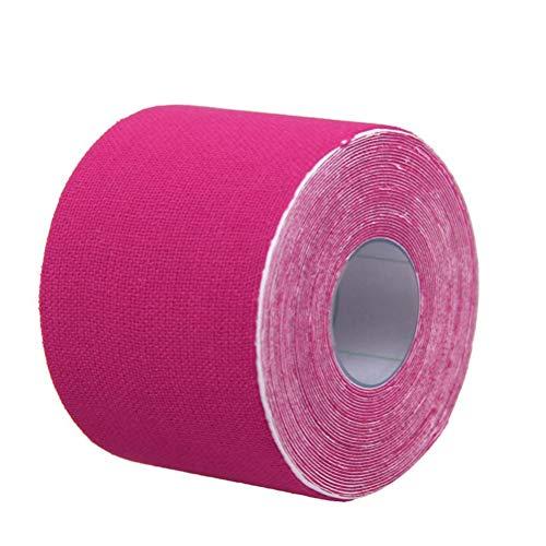 ultnice Kinesiología Aparato de banda terapéutico cinta elástica para deportes, ocio, Fisioterapia y medicina 500x 2.5cm (Rosa)