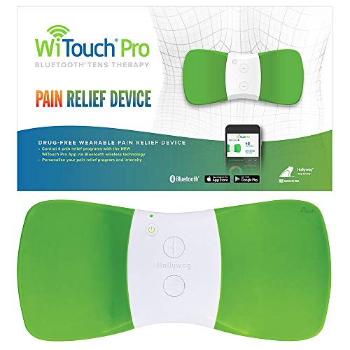 WiTouch Pro TENS Unit for Back Pain Relief, Largest Treatment Area with Highest Power Output Allowed, Includes 3 Pairs of Gel Pads