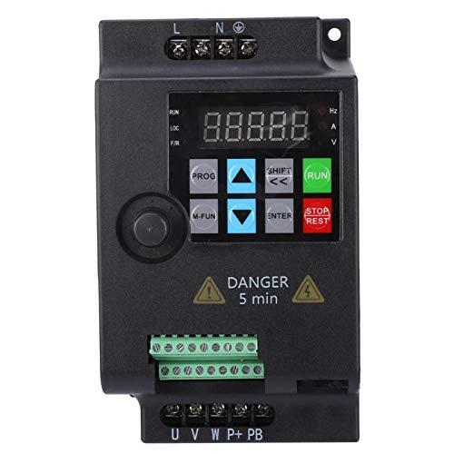 Frequenzumrichter,Jectse 380VAC 4kW 3-phasige PWM-Steuerung Wechselstrom VFD-Wechselrichter VFD Inverter Vektorregelung VFD Drehzahlregler (220V 2.2KW)