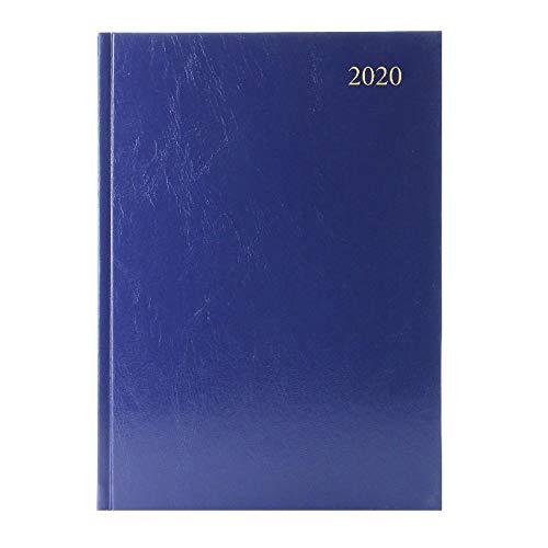 Agenda da scrivania, formato A4, giorno per pagina, appuntamenti 2020, blu
