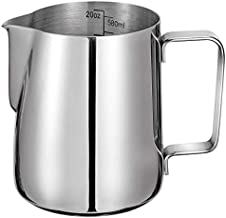 Milk Frothing Pitcher 600ml/20oz 304 Stainless Steel Milk Jug Espresso Steaming Pitcher Barista Cup for Making Coffee Cappuccino Latte Art…