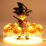 XHJL Juego de Luces de Mesa con Estatua de Sun Wu Kong y Bolas de Vidrio de 3,5 cm y...