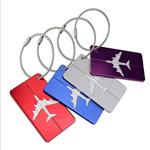 Pixnor Metal Travel Gepäck Gepäck Etiketten Koffer ID Tags Etiketten, 8 Stück