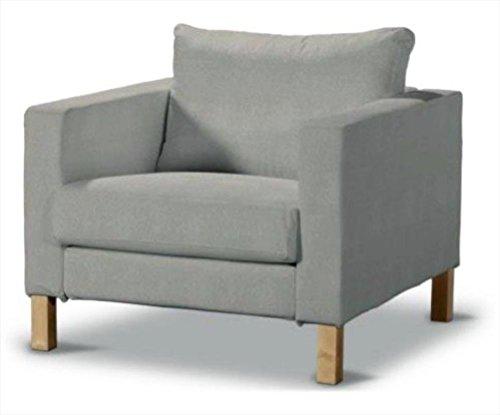 Sofa Renewal Durable Dense Cotton Karlstad Stuhl-Abdeckung Ersatz ist nach Maß für IKEA Karlstad Sessel Sofa Slipcover Hellgrau