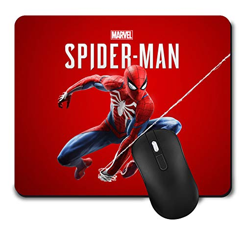 Gaming Mouse Pad,Cute Mouse Mat with Design,Waterproof and Non-Slip Rubber Base Office Mousepad,Middle Size 9.45x 7.87 x 0.08 Inch,Spider-Man Colour