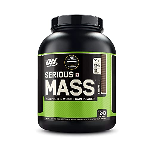 Optimum Nutrition (ON) Serious Mass High Protein and High Calorie Mass Gainer / Weight Gainer Powder - 6 lbs, 2.72 kg (Chocolate) with Vitamins and Minerals