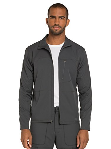 Dickies Dynamix Men's Men's Zip Front Warm-up Jacket, DK310, L, Pewter