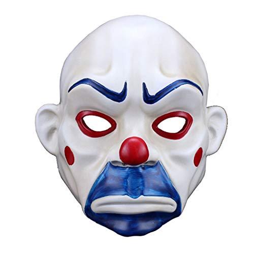 LXESWM Halloween masker Clown Robber masker Joker trieste film voor Halloween kostuum Cosplay Festival partij