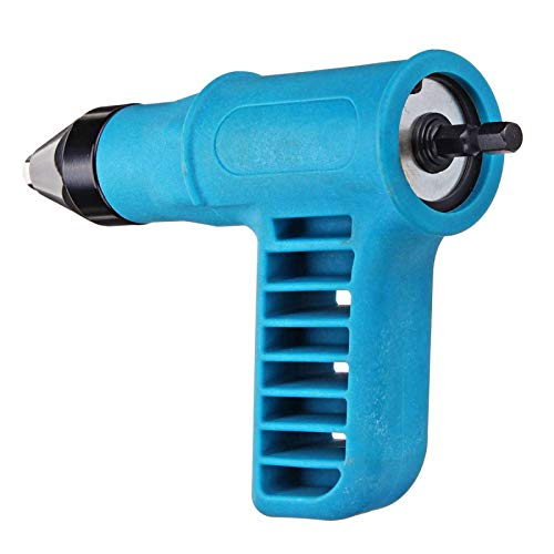 Clavo remachador inalámbrico Gu n Kit de herramientas de taladro eléctrico Adaptador remachador Tuerca de inserción + Llave + Boquillas convertibles