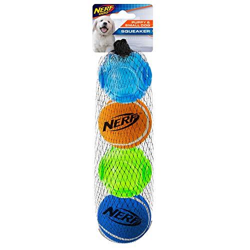 Nerf Dog Nerf Dog TPR 5 Zoll Sonic/Tennisbälle 4 Stück für kleine Hunde und Welpen, geeignet für den Nerf Dog Tennisball Blaster für kleine Hunde und Welpen