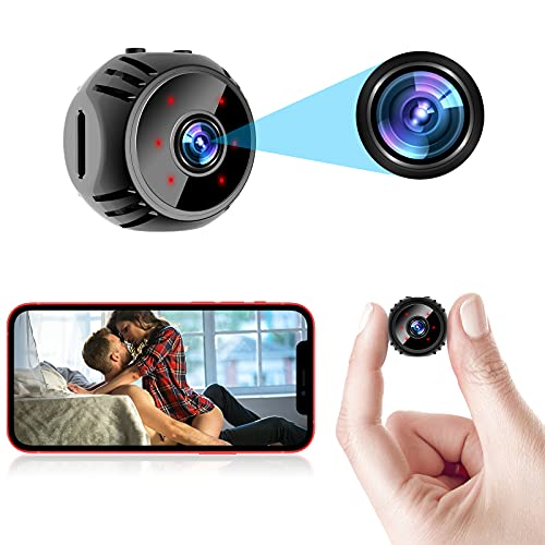 Mini Spy Camera Wireless Hidden WiFi Nanny Cam Baby Monitor 1080P HD Home Security Indoor Video Recorder with Live Feed Phone APP Night Vision Motion Detection