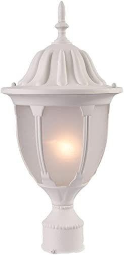 Acclaim 5067TW/FR Suffolk Collection 1-Light Post Mount Outdoor Light Fixture, Textured White