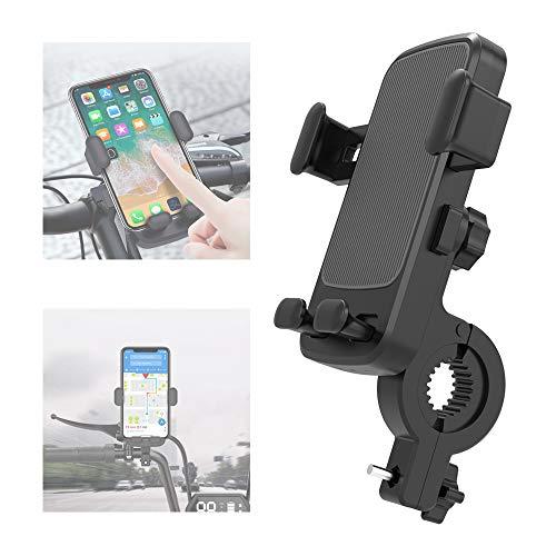 Handyhalterung Fahrrad, Universal Motorrad Fahrrad Handyhalterung mit 360° Drehbar & Elastischen Silikonbändern für 4,7-6,5 Zoll Smartphone, wie iPhone, Samsung, andere Smartphone