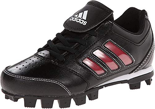 adidas Performance Change Up MD 2 K Baseball/Softball Cleat (Little Kid/Big Kid), Black/University Red/White, 2.5 M US Little Kid