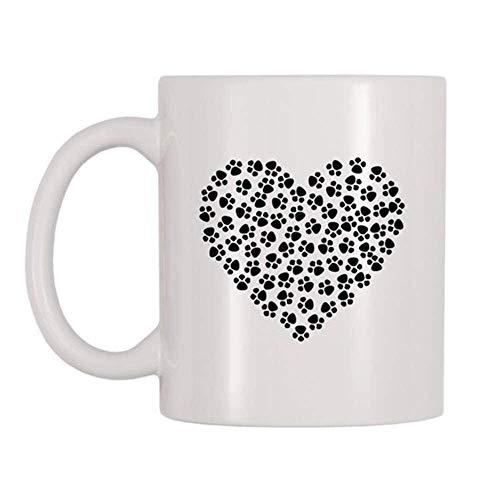 Taza té cerámica uso prolongado Paw HeAnimal Pet med Animal Lovers Cat Moms Papás Perro Familias Abrigo disponible Taza bebida café Regalo