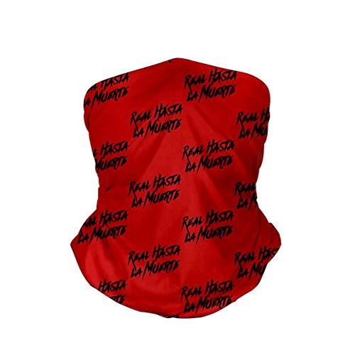 JIUYU Anuel AA Impreso Calentador de Cuello A Prueba de Viento Boca a Prueba de Polvo Tela Facial Bufanda mágica Pasamontañas