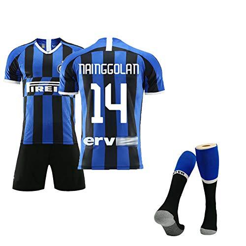 Für Nainggolan 14# Icardi 9# Perisic 44#, New Season Home Sommer Fußball Uniformen, Herren Fußball Sportbekleidung, Kinderbekleidung, Kann wiederholt gereinigt werden-14#-20(110~120cm)