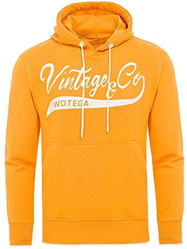WOTEGA Herren Hoodie WT Star - gelb Kapuzenpullover Hoodies gelber Winter Pulli - Sweater Männer Hoody Sweatshirt, Orange (Butterscotch 151147), XXL