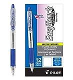 PILOT EasyTouch Refillable & Retractable Ballpoint Pens, Fine Point, Blue Ink, 12-Pack (32211)
