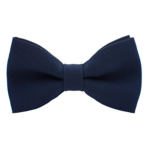 Mens Bow Ties for Men Kids Boys Cute Navy Blue Bowtie Expands Our Color Line - Light Sky Deep Natural Blue Bowties and Electric Navy Royal Blue Clip on Bow Tie - shop Bow Tie House (Medium, Navy Blue)
