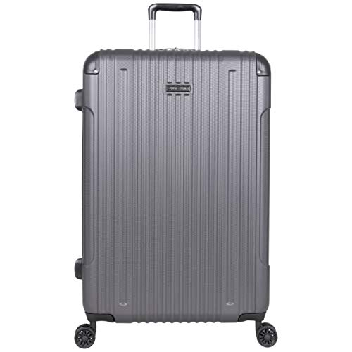 """Ben Sherman Heathrow Haul 28"""" Lightweight Hardside Expandable 8-Wheel Spinner Checked Suitcase, Charcoal, inch"""