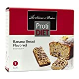 ProtiDiet Protein Bar - Banana Bread (7/Box) - High Protein 15g - Low Calorie - High Fiber